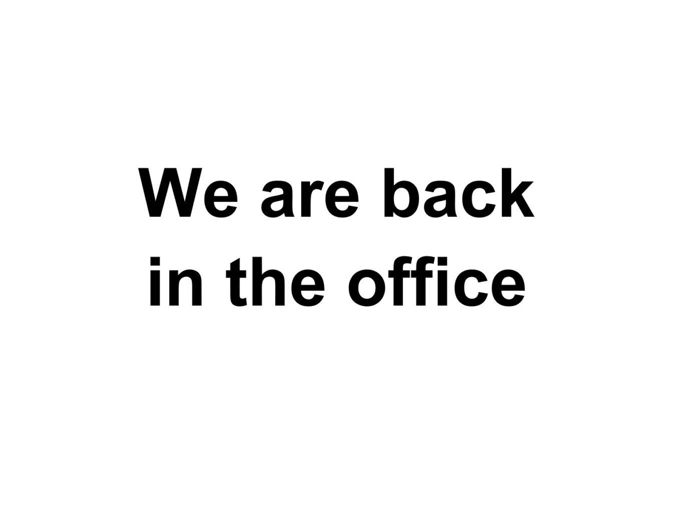 Juni 2020 - We are back!